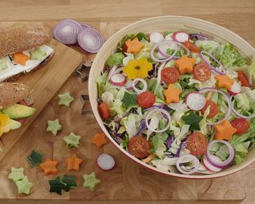 סלט ירקות מעוצבים