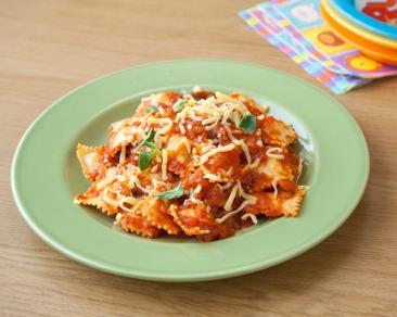 רביולי גבינה ברוטב עגבניות שילדים אוהבים