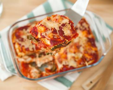 לזניה רביולי עם רוטב עגבניות ותרד