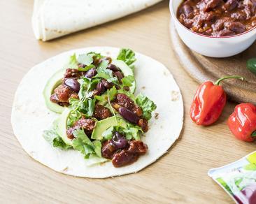 תבשיל שעועית בסגנון מקסיקני