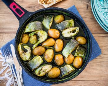 תבשיל לברק ותפוחי אדמה